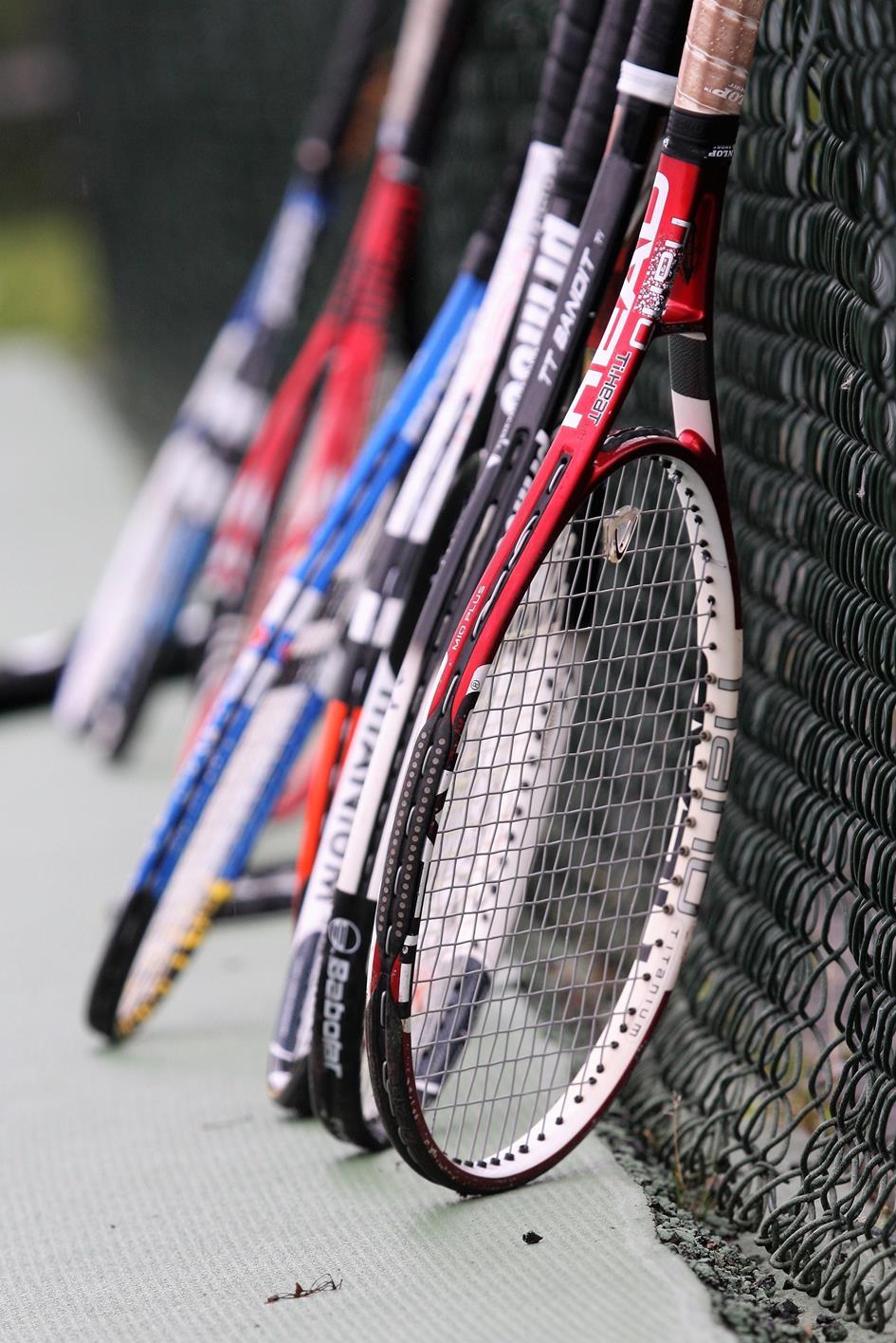 rackets op de baan